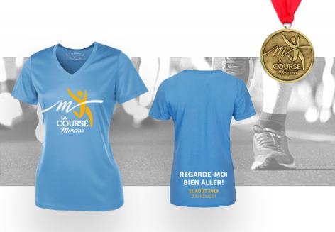 T-shirt pour femme (très petit) + 1 médaille