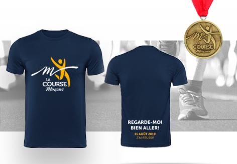 T-shirt pour homme(très petit) + 1 médaille