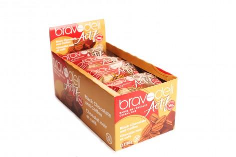 Boîte de Barres Bravodeli Actif chocolat noir et café