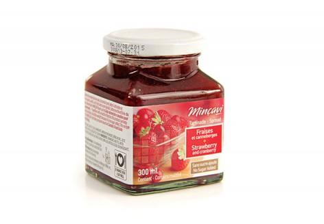 Confiture fraises et canneberges