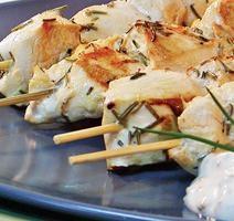 Brochettes de poulet dijonnaises