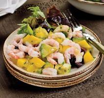 Salade de crevettes à la mangue et avocat