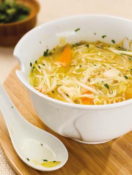 Soupe-repas au poulet ou crevettes