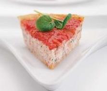 Tarte à la ricotta et fondue de tomates
