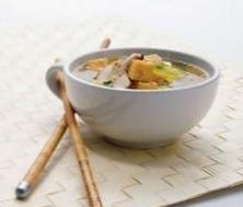 Soupe Miso au tofu grillé