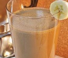Café glacé à la banane