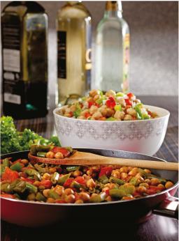 Salade de pois chiches et poivrons