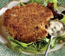 Hamburger de thon sans pain, sauce tartare