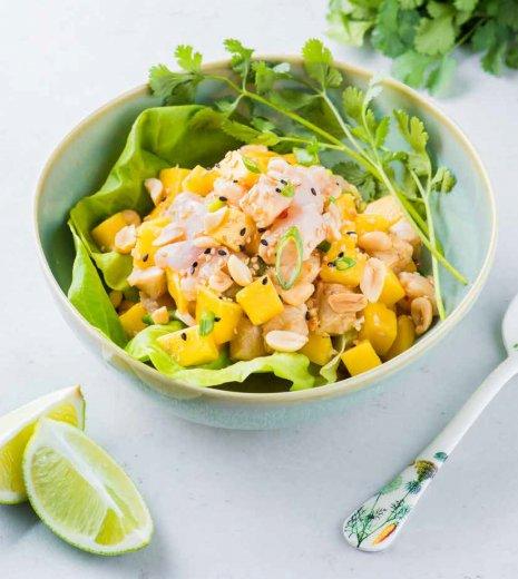 Ceviche au poisson blanc et à la mangue