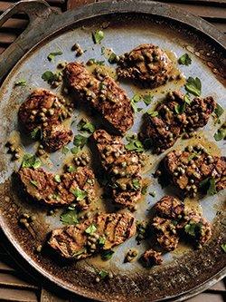Escalopes de porc grillées piccata