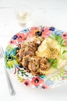 Filet de porc en croûte de pacanes et érable **Nouveau**