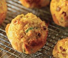 Muffins au maïs et au bacon
