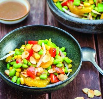 Salade orientale d'edamame