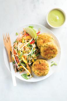 Croquettes de poisson et quinoa cuites au four