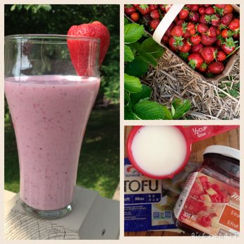 Smoothie aux fraises