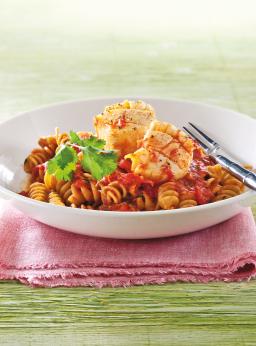 Rotini sauce tomate, pétoncles et safran **Nouveau**