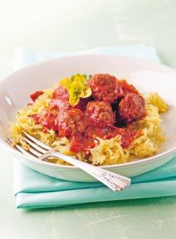 Spaghetti de courge aux boulettes de viande