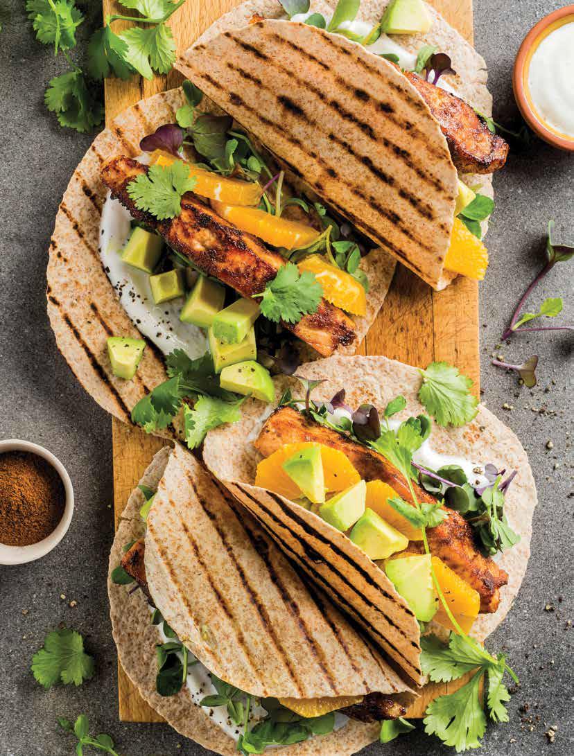 Tacos au saumon grillé chipotle et érable