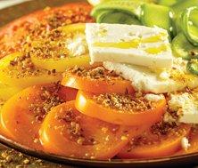 Salade de tomates et de concombres au dukkah